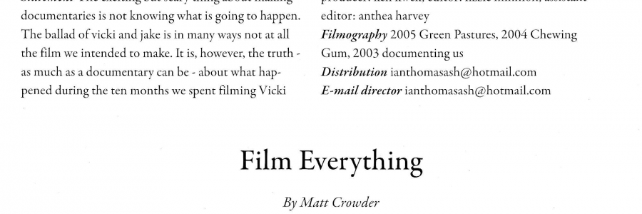 'film everything' – critical review of vicki and jake